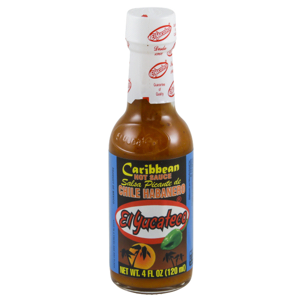 Caribbean Habanero Sauce 120ml by El Yucateco image by CHILLIESontheWEB