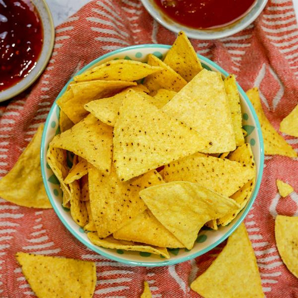 Lightly Salted Tortilla Chips 1/4 Cut 500g Image by SPICESontheWEB