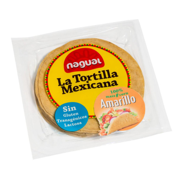 Nagual 15cm Yellow Corn Tortillas x 8 Image by SPICESontheWEB