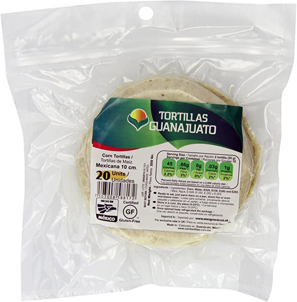 10cm Corn Tortillas x 20 Image by SPICESontheWEB