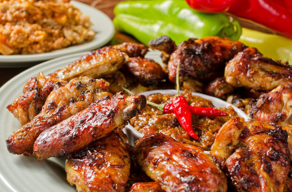 Jamaican Jerk Meal Image, Chillies on the Web