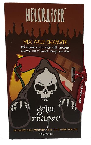 Hellraiser Ghost Orange Milk Chilli Chocolate 100g Image by Grim Reaper