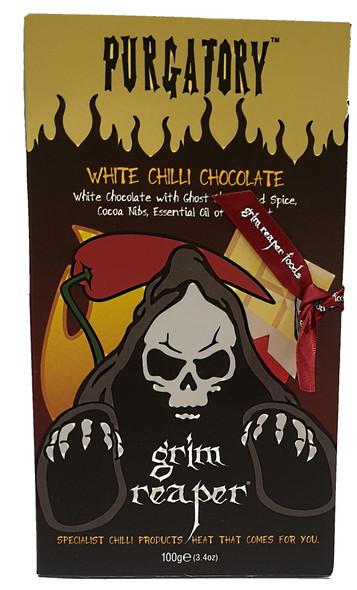 Purgatory Ghost Chilli White Chocolate with Bergamot Orange 100g Image