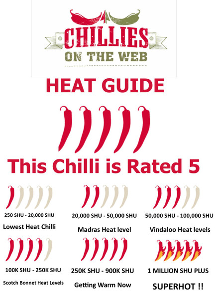 Heat Guide to Jalapeno Orange Spice Chilli Plant by CHILLIESontheWEB