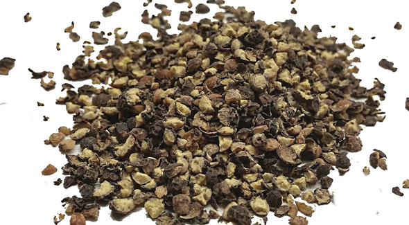 Black Peppercorns Cracked 8mm Image by SPICESontheWEB