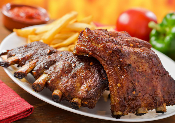 Plate of Succulent Ribs by Spices on the Web