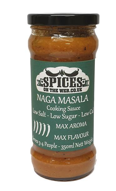 Naga Masala Cooking Sauce 350ml Image by SPICESontheWEB