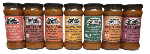 7 x Cooking Sauces - 1 for every day of the week 350ml each