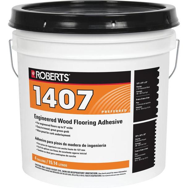 Roberts 1407 Engineered Wood Flooring Glue Adhesive - Front Label
