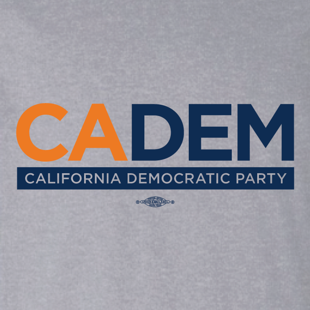 California Democratic Party Logo  (Athletic Heather Ladies-Cut Tee)