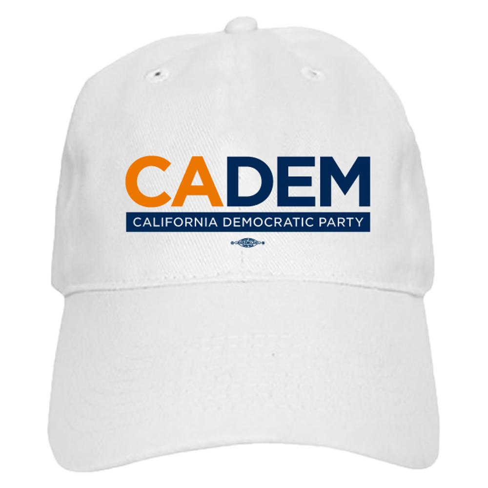 California Democratic Party Logo (White Baseball Cap)