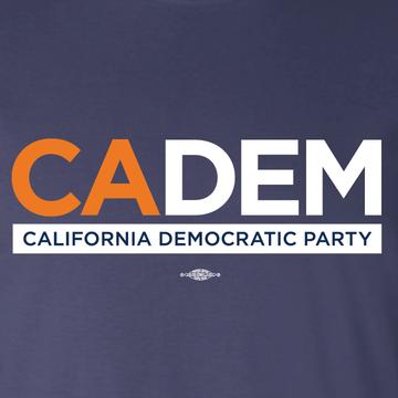 California Dems Alt Logo (Navy Ladies Tee)