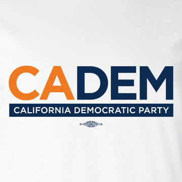 California Democratic Party Logo (White Ladies-Cut Tee)