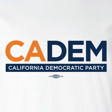 California Democratic Party Logo (White Tee)