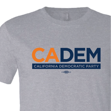 California Democratic Party Logo (Athletic Heather Tee)