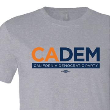 California Democratic Party Logo (Athletic Heather Tee)
