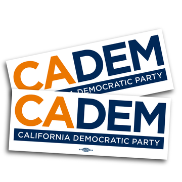 """California Democratic Party Logo (10"""" x  3.825"""" Vinyl Sticker -- Pack of Two!)"""