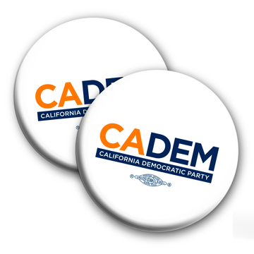 "California Democratic Party Logo (2.25"" Mylar Button -- Pack Of Two!)"