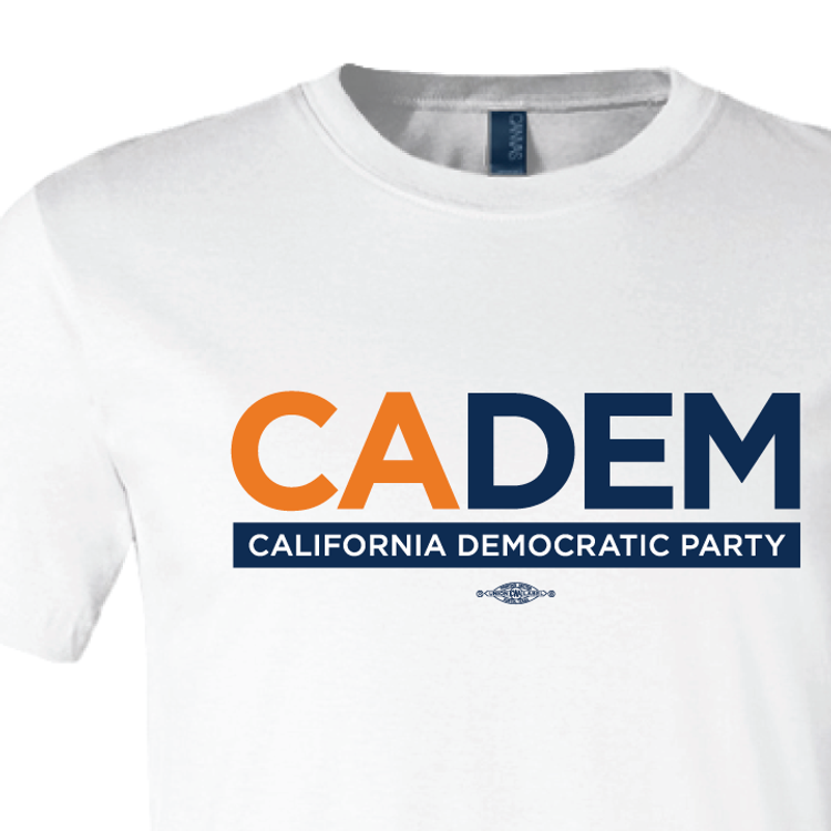 California Democratic Party Logo (White Tee)