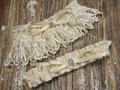 Ivory Lace Wedding Garter Set, Shown with an Ivory Bow