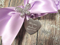 Engraving Details on the Personalized Rhinestone Butterfly Wedding Garter
