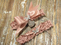 The Personalized Rhinestone Butterfly Wedding Garter Set in Rose Gold