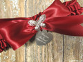 Engraving Details of the Personalized Rhinestone Butterfly Wedding Garter