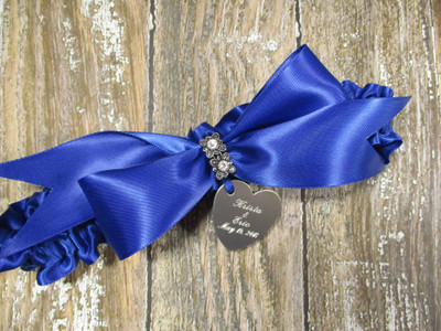 The Swarovski Crystal Wedding Garter in Royal Blue