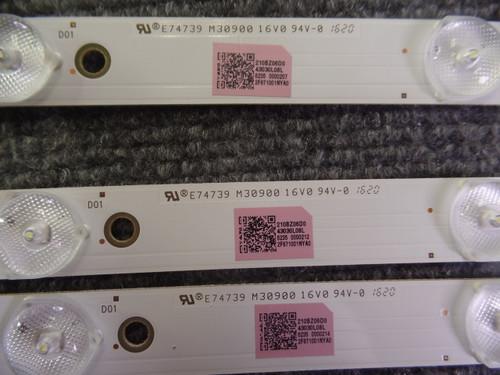Set of Vizio D50u-D1 LED Backlight LB50057 V0/_00