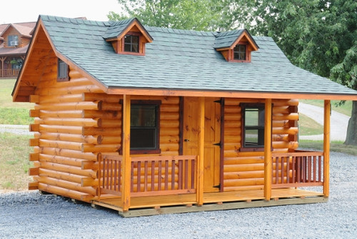 Pioneer Log Cabin Wayside Lawn Structures