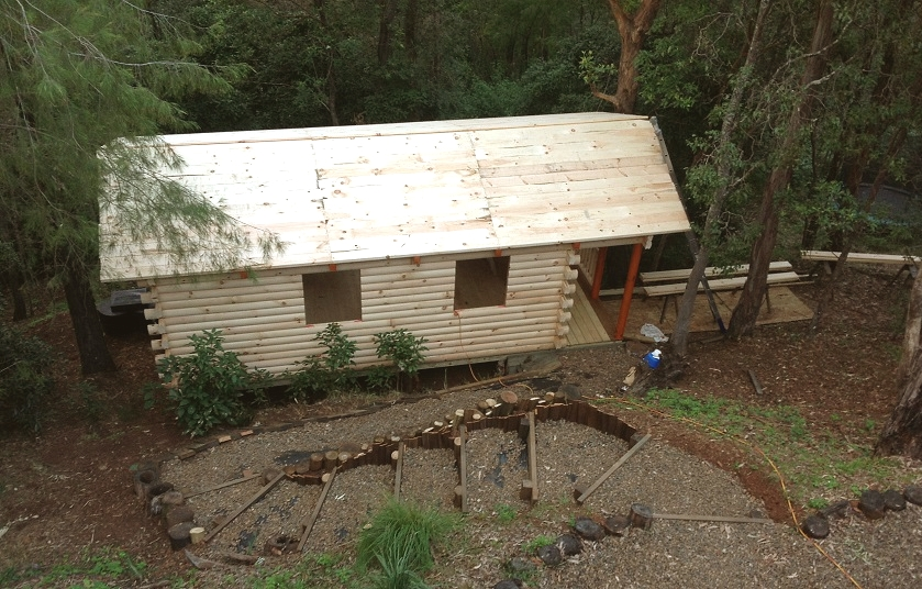Amish Built Log Cabin to Brisbane, Australia