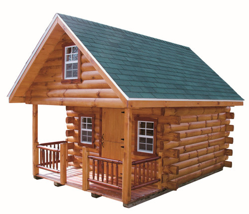 Bachelor Log Cabin Wayside Lawn Structures