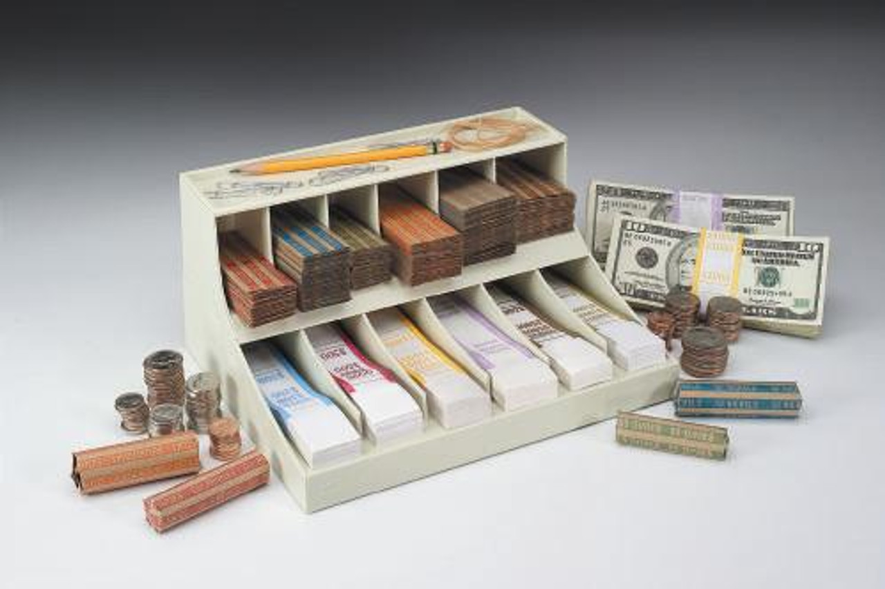 Currency Band//Coin Wrapper Combo Organizer Strap Rack Clear