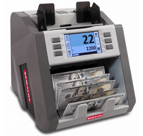 NEW--2nd Gen! Semacon S-2200 Currency Discriminator, Semacon S2200 (with Canadian, USD, Mexican & EURO Currency software)