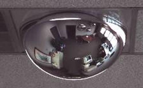 """Drop Ceiling Full Dome Mirror, 2ft by 2ft tile, 22"""" diameter, AV24DI"""