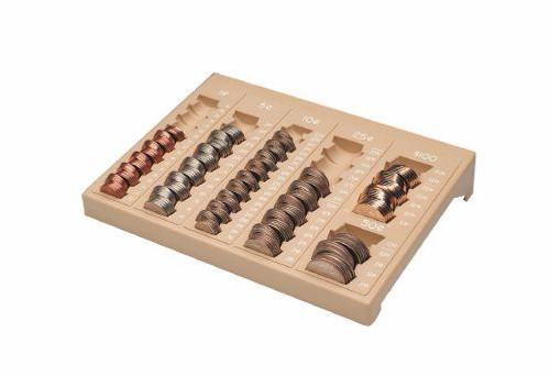 One-Piece Coin Organizing Tray, Countex II