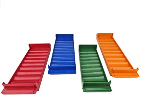 Aluminum Rolled Coin Trays Color-coded, Includes Penny, Nickel, Dime & Quarter Tray Set