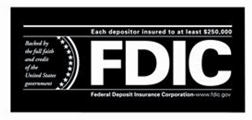 Wall-Style FDIC Signs w/o Backplate Sturdy laminate signs in etched or silk-screened type