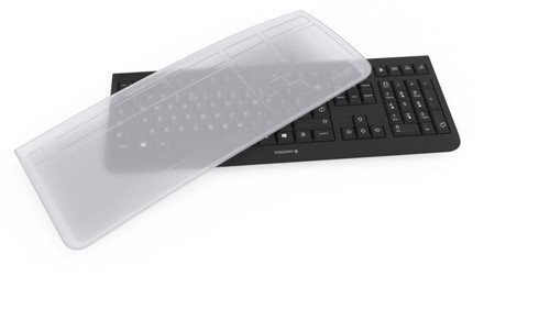 CHERRY, KC1000 KEYBOARD WITH EZCLEAN FLAT COVER, USB, 104+4 HOT KEYS, WHISPER QUIET KEYS