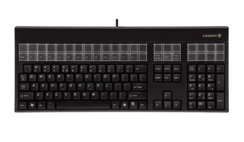 CHERRY, G86-71400, KEYBOARD, BLACK, USB, 17IN, 131 PROGRAMMABLE KEYS, CHERRY TOOLS CONFIGURATOR, UPOS
