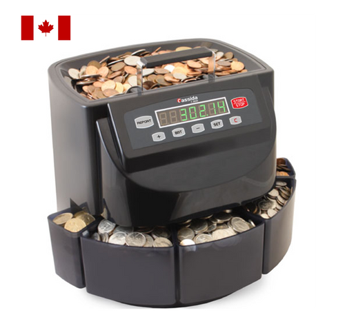 Cassida C200 CAD Canadian Coin Sorter and Wrapper
