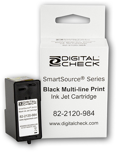 Smart Source Ink Jet Cartridge without felt pad (Black) Factory Certified/Non-Generic/NOT Remanufactured #822120984, 82-2120-984 (inkjet)