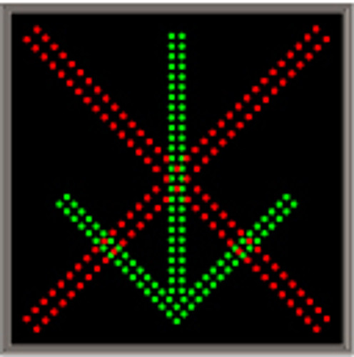 Signal-Tech X | DOWN ARROW Sign 5492