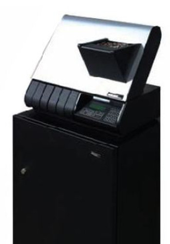 Magner Pelican 305 Coin Counter and Sorter with Bagging for P,N,D,Q, Havles & SBA into drawers includes locking security stand