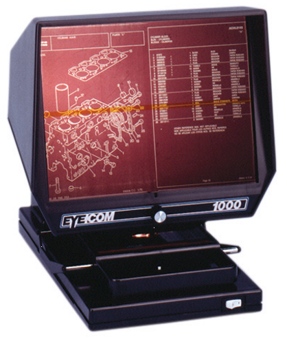 Eyecom 1000 Microfilm Viewer with 24x lens only