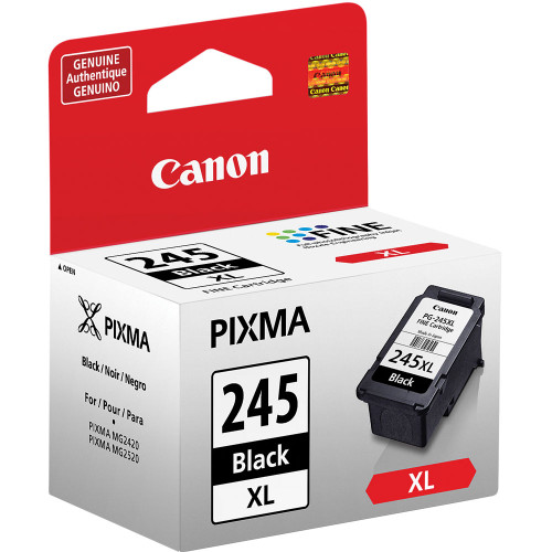 Canon PIXMA 245XL Black Inkjet Cartridge (PG-245) Certified Non-Generic OEM, Canon CR190i-II, CR120/CR150 Cartridge #8278B001