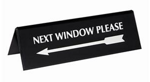 Next Window Please with Arrow Sign Reversible and Visible from both sides #283075700