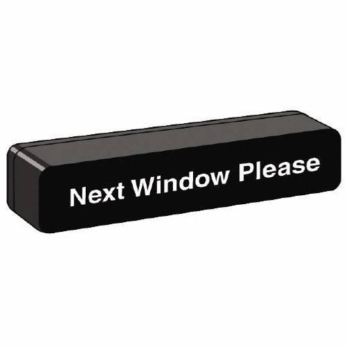 Next Window Please Block Sign with Rounded Corners #2837047W04