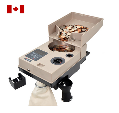 Cassida C500 CAD Heavy Duty Coin Counter for Canadian Coin, Coin Packager with Offsort