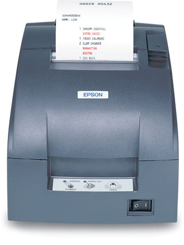 Epson TM-U220B Printer (USB) #C31C514A8711 with power supply. Includes Auto-cutter. (No DM/Hub)